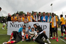Gaza kids go for gold at Norway football cup