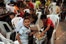 Children enjoying Ramadan meal