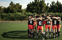 "Talented Palestinian rugby players from Lebanon declare ""Dignity for All"""