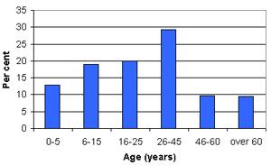 Graph of Jaramana demographic profile