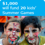 $1000 will fund 20 children's Summer
