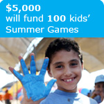 $5000 will fund 100 kids' Summer Games