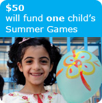 $50 will fund one child's Summer Games
